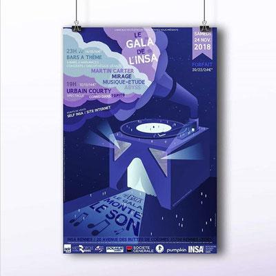 Affiche pour le GALA de l'INSA 2018