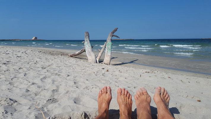 naturist beach close to naturist camping-italy
