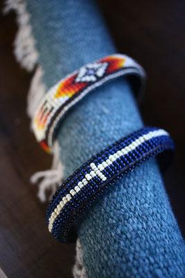 brass bead bracelet BROWN TABBY バングル