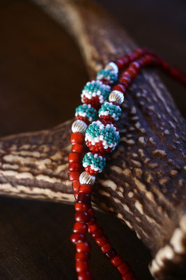 antique bead necklace  beaded bead  アンティークビーズネックレス ビーズボール