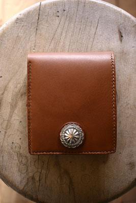 leather wallet  二つ折り財布 ブルガノ