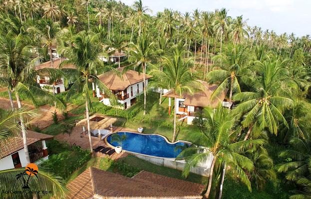 villa koh samui blue coconut residence lamai