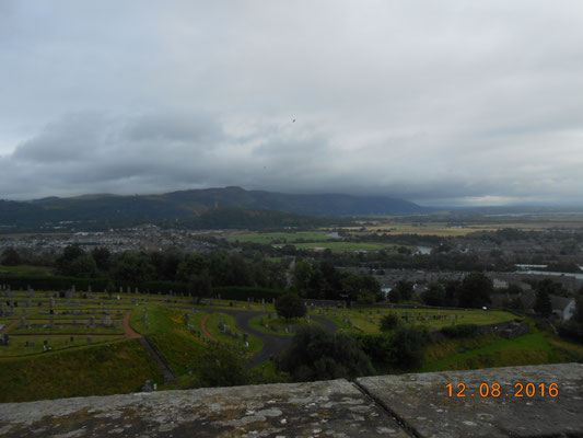Blick vom Stirling Castle