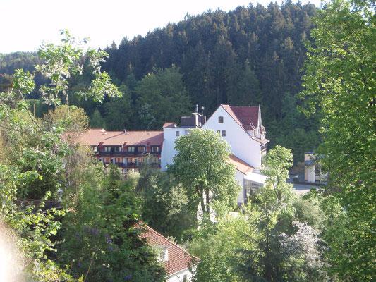 Unser Hotel von oben
