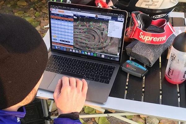 MotoGP Yamaha factory racer Jonas#94 with RaceAnalyse data analysis