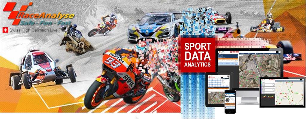 RaceAnalyse für Motorräder, Auto und Wassersport