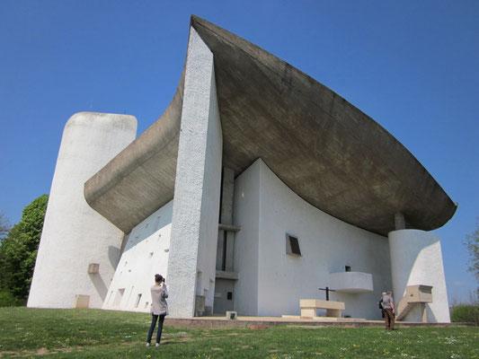 ル・コルビュジェ設計・ロンシャンの礼拝堂(ロンシャン)