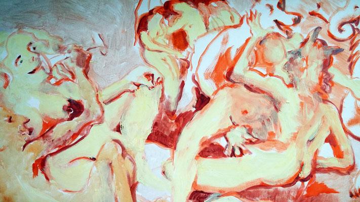 DETAIL/SKIZZE: Poesie - gemalt von Bertram Schüler, Frankfurt