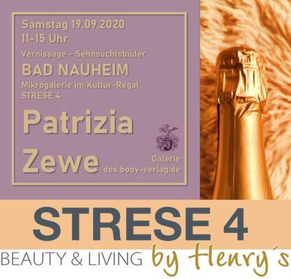 Einladung STRESE 4 - Ausstellung Sehnsuchtsbilder von Patrizia Zewe, Stresemannstraße 4, Bad Nauheim