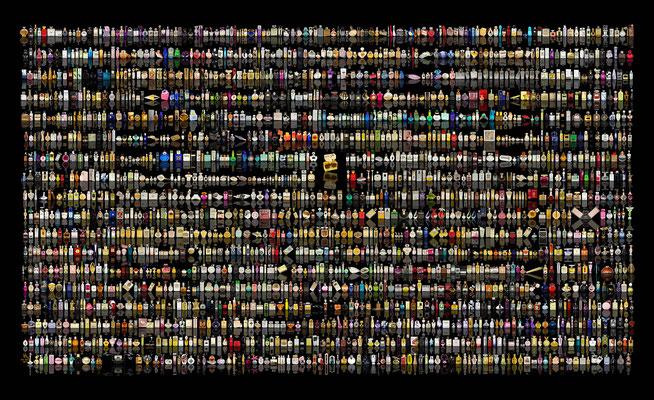 Fidji II: 2,4 x 1,45 m, 2.000 Flakons, Messepreis 1.000,- € (inkl. MwSt.)