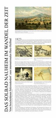 Tafel 1: Das Solbad Nauheim im Wandel der Zeit von Hiltrud Hölzinger und Gisela Christiansen, Jugendstilverein Bad Nauheim