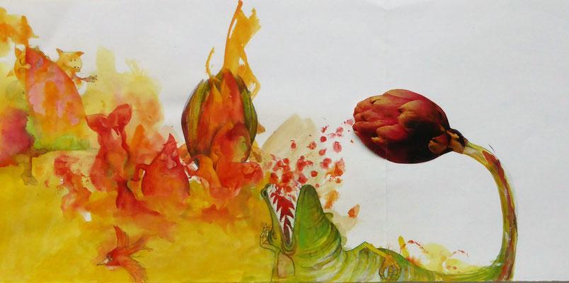 SANDRA KRUSE - MAINZ: Kunst und Alltagshelden - Collage, Zeichnung und Malerei