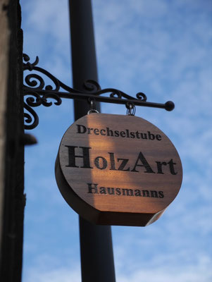 Namenstafel Drechselstube HolzArt Hausmanns, Foto: Annette Hausmanns