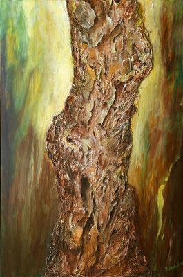 Vollendung 1 von Barbara Meiler, 80 x 120 cm, Preis auf Anfrage, Mischtechnik auf Leinwand