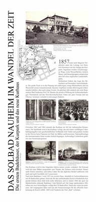 Tafel 2: Das Solbad Nauheim im Wandel der Zeit von Hiltrud Hölzinger und Gisela Christiansen, Jugendstilverein Bad Nauheim