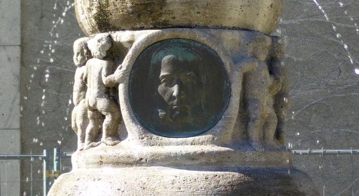 Detail Benecke-Brunnen, Foto Beatrix van Ooyen