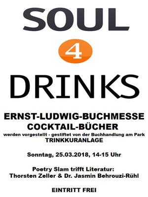 Partner der Ernst-Ludwig-Buchmesse 2018: SOUL4DRINKS - Die Cocktailbar ist ein Mitglied der Gemeinschaft der Trinkkuranlage