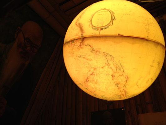 地球儀の照明