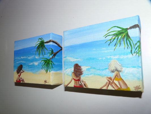 acrylic - `beachlovers´