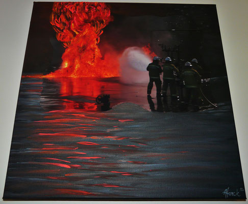 acrylic - `QLD fire service´