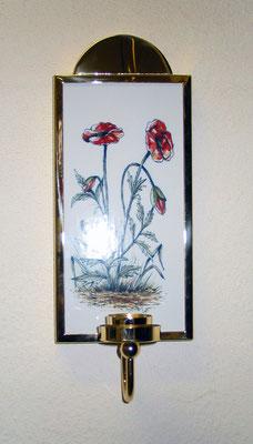 """Wandleuchter Blaker """"Fliesenschild""""  mit Teelicht und handgemalter Fliese aus Harlingen Holland"""