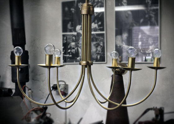 """Hängelampe """"Classic"""" mit 6 Brennstellen auch als Kerzenbrennstelle  erhältlich oder als 4er oder 8er Leuchter"""