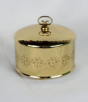 Dose rund mit Deckel und Zierabschluss, Durchmesser 13cm
