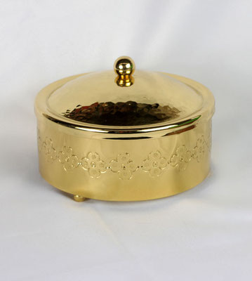 Dose rund mit Deckel und Knopfabschluss, Durchmesser 16cm