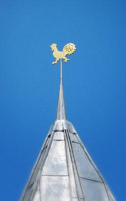 Wetterhahn auf der neuen Kirche Pellworm