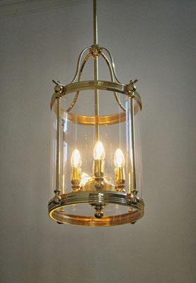 """Lampe """"Wintergarten"""" mit Glaszylinder (Durchmesser 30 cm Höhe 40 cm)"""