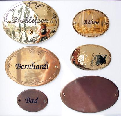Beispiele für Namensschilder
