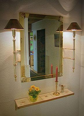 Sonderanfertigung Lampen für einen Spiegel