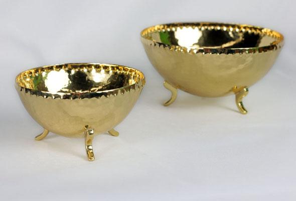 """Schalen """"Anke"""" mit Füßchen, klein Durchmesser 9 cm, standard Durchmesser 13 cm"""