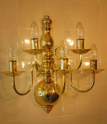 "Wandlampe ""Flämisch"" 5-armig"