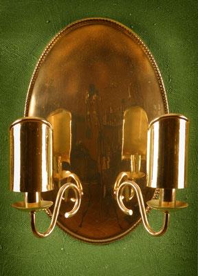 """Wandlampe Blaker """" Seebüll groß"""" mit Perlrand und Blender"""