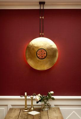 "Wandlampe ""Oriental"" Messing vergoldet  (Durchmesser 35-75 cm)"