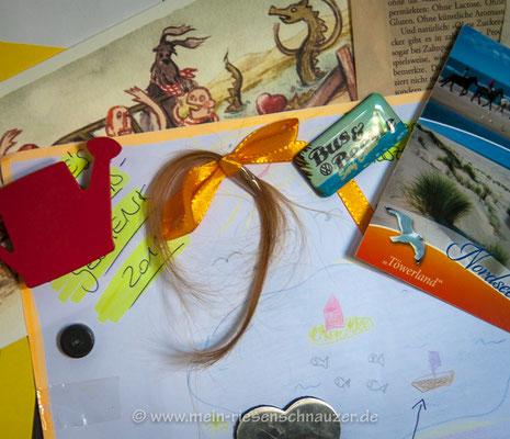 Ein Strähnchen am Kühlschrank und eine ziemlich große Lücke in der neuen Frisur des Kindes ...