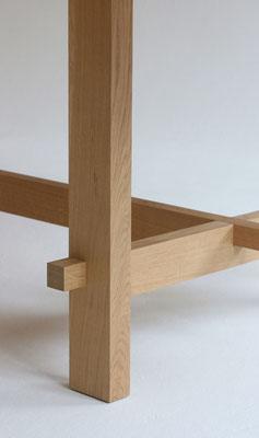 Tisch Esstisch mit Sitzbank Eichholm Eiche Massivholz mit Rohholzeffekt-Lack lackiert Pistorius Berlin