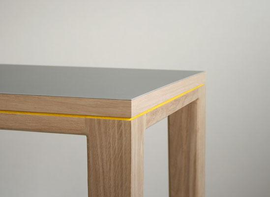 Tisch Esstisch Schreibtisch R10 Linoleum ash Eiche Massivholz Pistorius Berlin