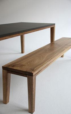 Tisch Esstisch Schreibtisch R10 Valchromat anthrazit Nussbaum geölt Pistorius Berlin