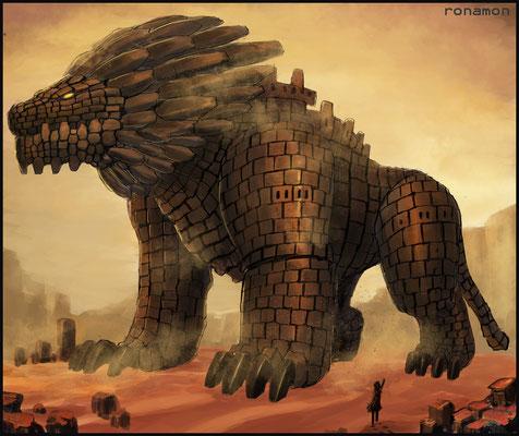 超古代ライオン型ゴーレム、スフィンクス兵器