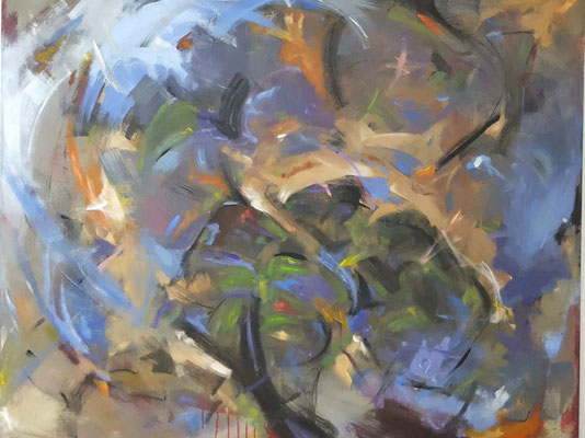 Steve Coleman II   120 x 150  Acrylfarbe auf Leinwand - Anfangsgebot 250 Euro