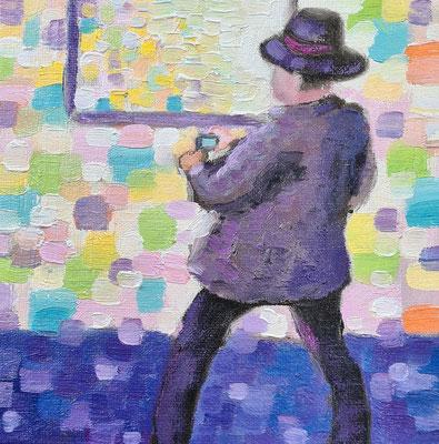 The Photographer  15 x 15 cm  Oil on cardboard