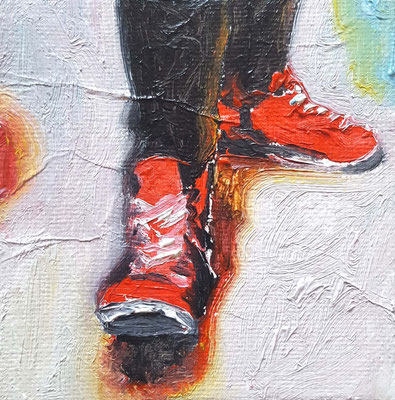 red shoes black legs