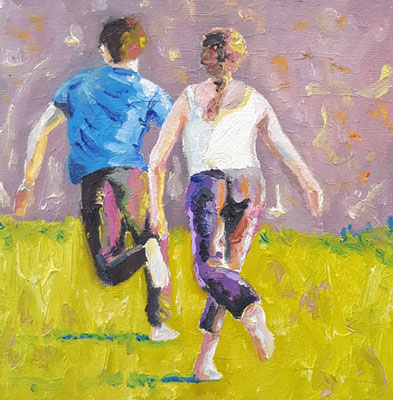 running couple  15 x 15 cm  März 2019