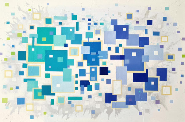 Two kinds of blue 100 x 120 cm 20072021