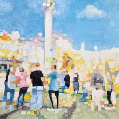 Fun fair  50 x 50 cm Öl auf Leinwand 18.03.2021