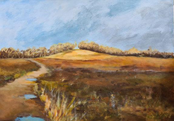 Weyerberg im Winter 42 x 59 cm Acrylfarbe auf Papier
