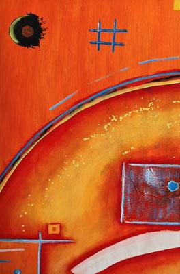 Mond und Mars - Acrylfarbe auf Papier 44 x 64 cm - Mindestgebot 50 Euro