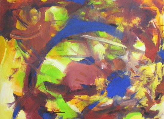 Steve Coleman III (Blauer Punkt) ca 100 x 120  ca 2000